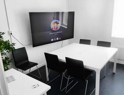 Møterommet har fått en oppgradering